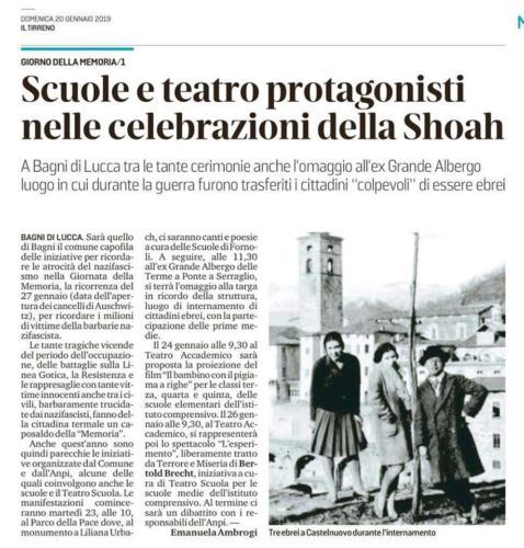 20/1/2019 - Il Tirreno